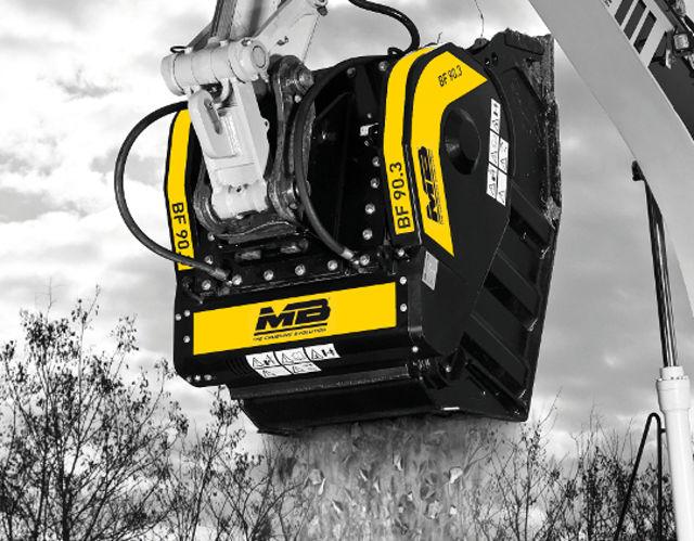MB CRUSHER presenta la Cuchara Trituradora BF 90.3 S4 en el mercado de las construcciones y de reciclaje.