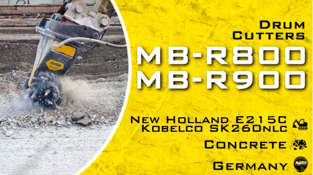 MB, watchword: «Traffic must not be interrupted».An exciting journey from the past to the future with MB Crusher drum cutters
