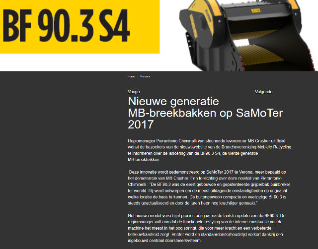 Nieuwe generatie MB-breekbakken op SaMoTer 2017