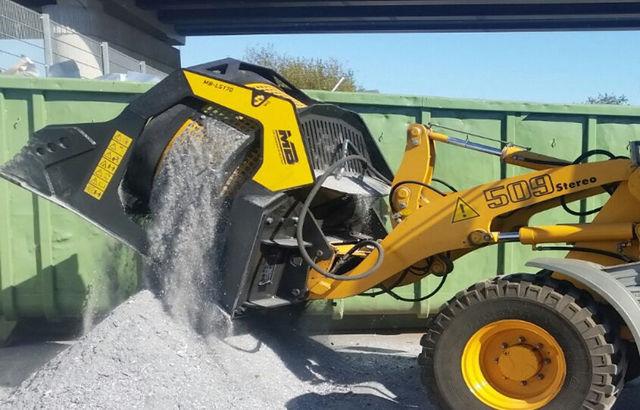 La Cuchara Cribadora MB-LS170 valoriza los residuos de aluminio