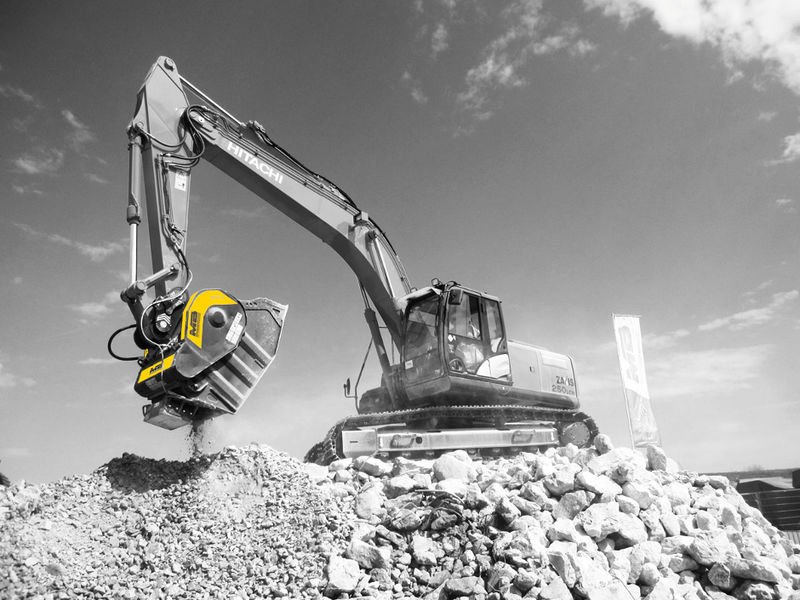 MB Crusher attachments designed for crush-in-place
