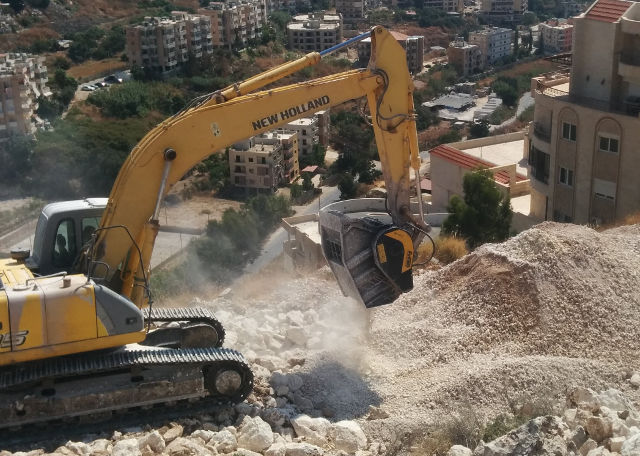 The innovation of MB Crusher for the shopping mall construction in the Middle East