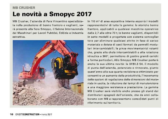 Le novità a SMOPYC 2017