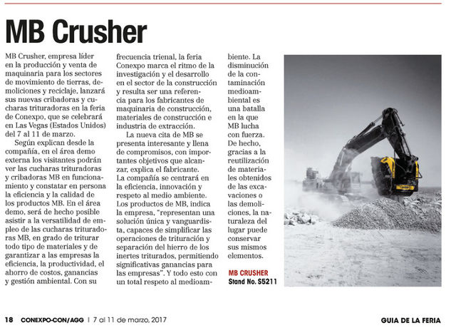 MB Crusher a Conexpo