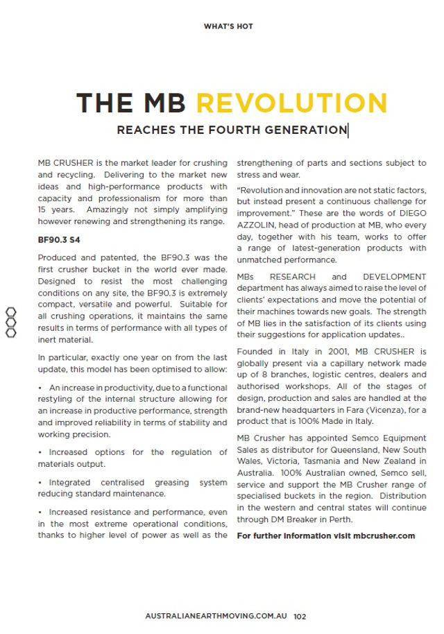 The MB Revolution Reaches The Fourth Generation