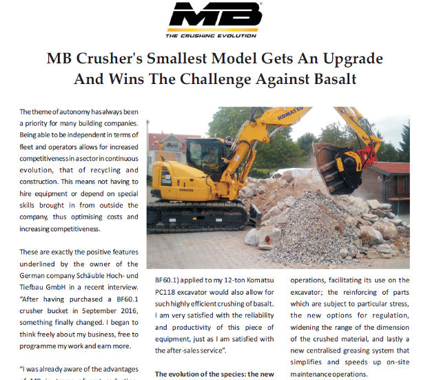MB Crusher's smallesy model gets an upgrade and wins the challenge against basalt