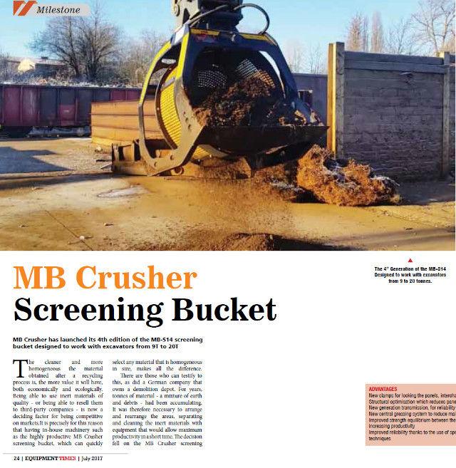 MB Crusher Screening Bucket