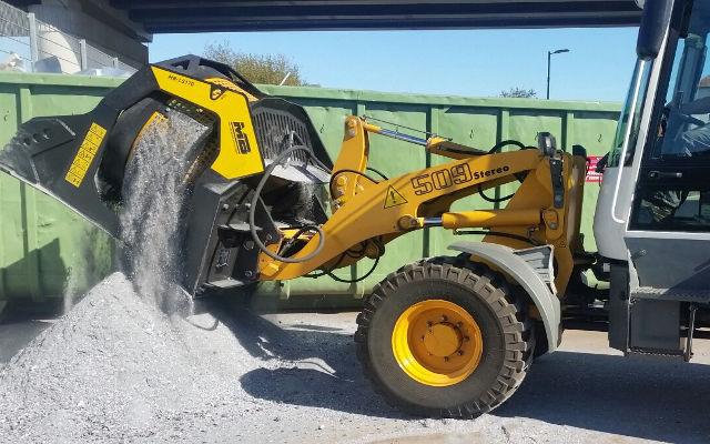 просеивающий ковш MB-LS170 для переработки отходов алюминия