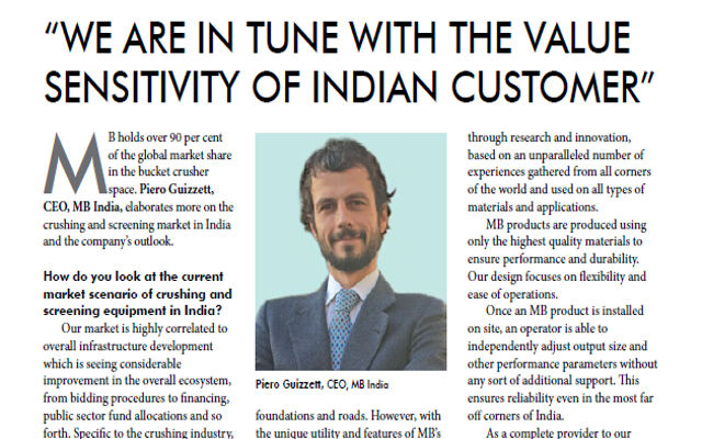 We are in tune with the value sensitivity of Indian customer