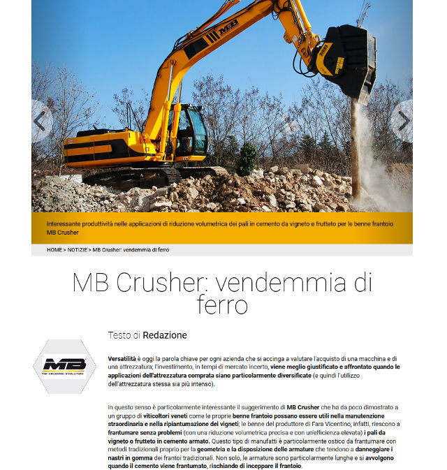 MB Crusher: vendemmia di ferro