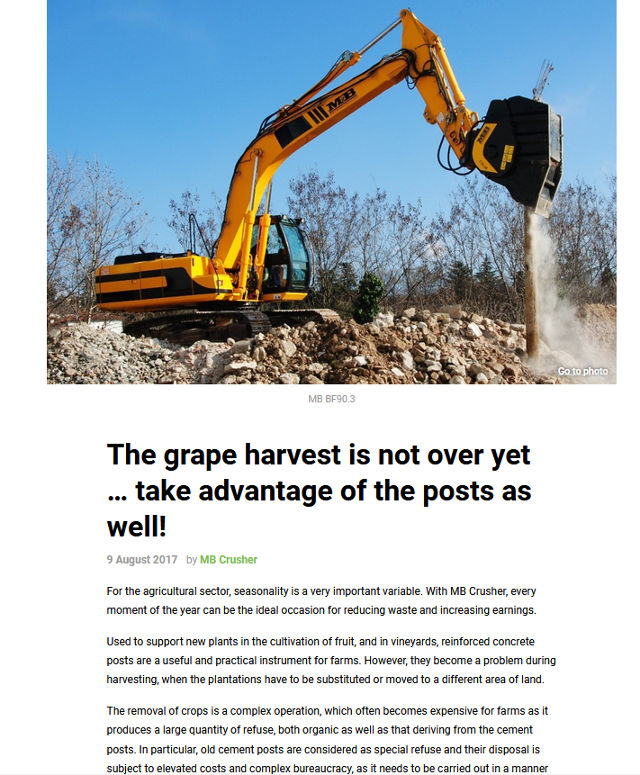 The grape harvest is not over yet … take advantage of the posts as well!