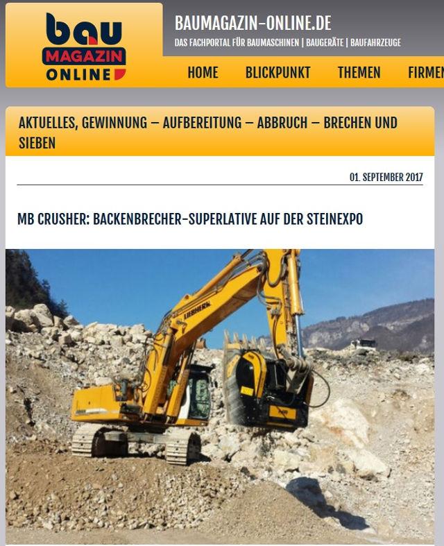MB Crusher: Backenbrecher-Superlative auf der Steinexpo