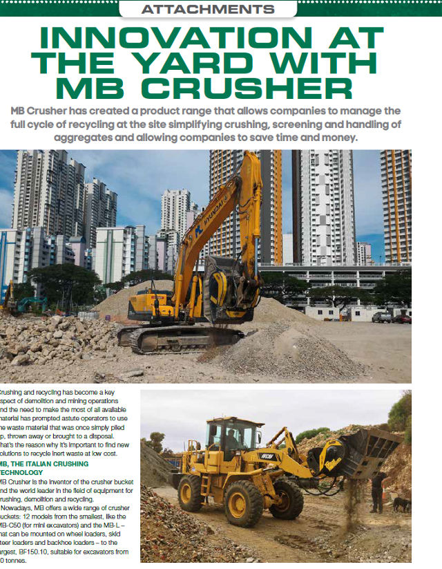 Innovation at the yard with MB Crusher