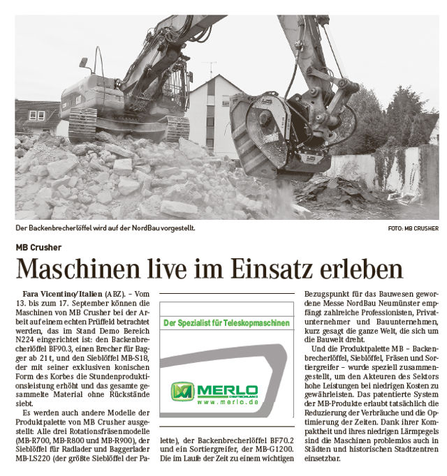 Maschinen live im Einsatz erleben