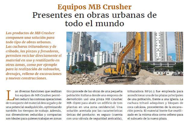 Equipos MB Crusher, presentes en obras urbanas de todo el mundo