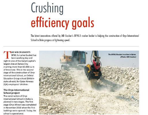Crushing efficiency goals