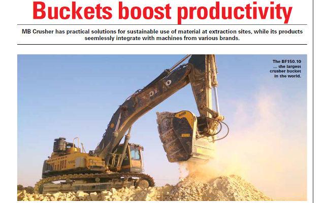 Buckets boost productivity