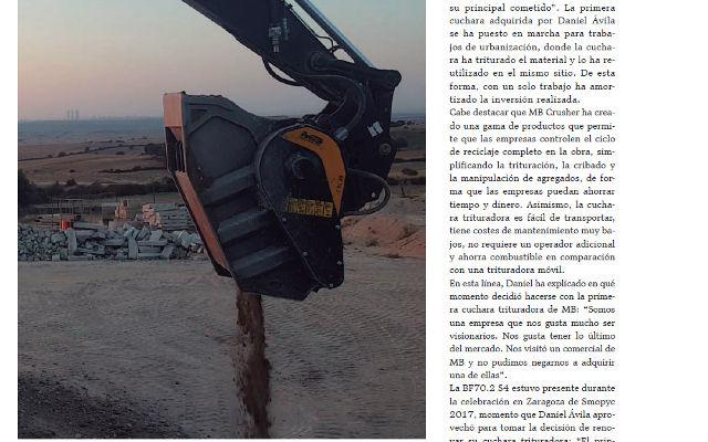 Excavaciones Guda Ávila sigue apostando por la revolucionaria tecnología de trituración de MB Crusher