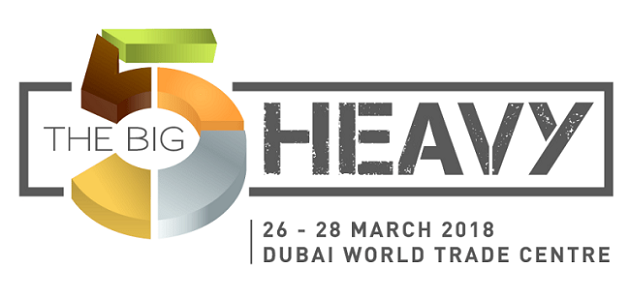 From 26 to 28 March 2018 – Come to visit us at the brand-new edition of Big 5 Heavy in Dubai!