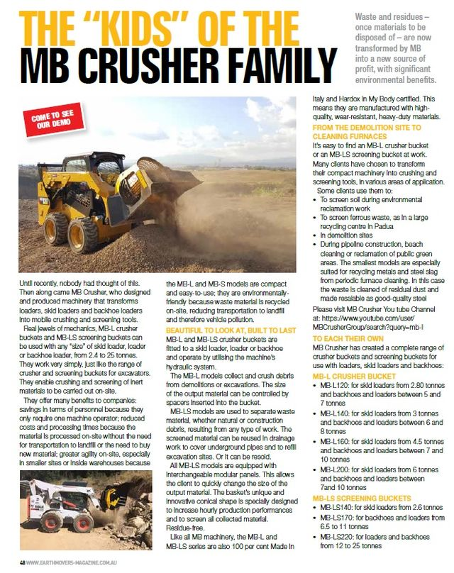"""THE """"KIDS"""" OF THE MB CRUSHER FAMILY"""