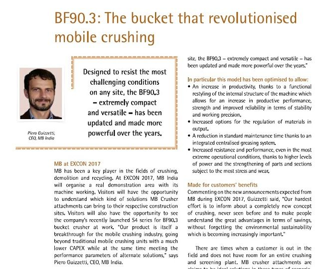 BF90.3: The bucket that revolutionised mobile crushing