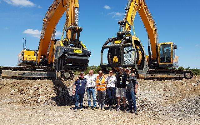 Demo live de MB Crusher y Hyundai Construction Equipment en San José