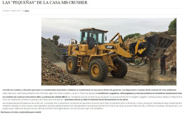 """LAS """"PEQUEÑAS"""" DE LA CASA MB CRUSHER"""