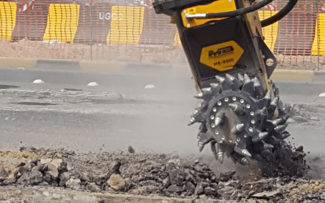 News - MB R-800 drum-cutter at work in Kuwait, proves its strenght