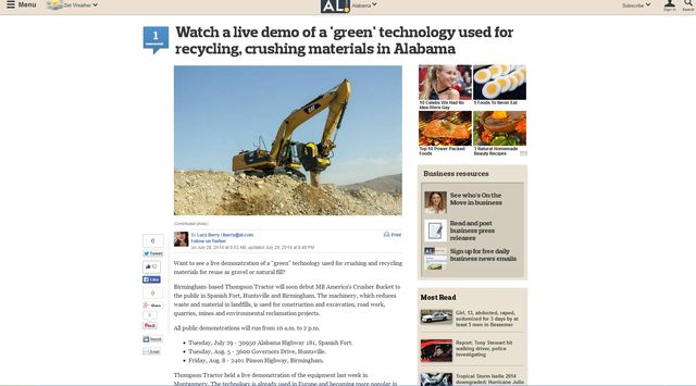 News - Watch a live demo of a 'green' technology used for recycling, crushing materials in Alabama
