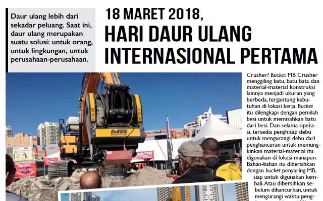 18 MARET 2018, HARI DAUR ULANG INTERNASIONAL PERTAMA