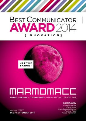 MB получила награду BEST COMMUNICATION AWARD  на выставке Marmomacc 2014