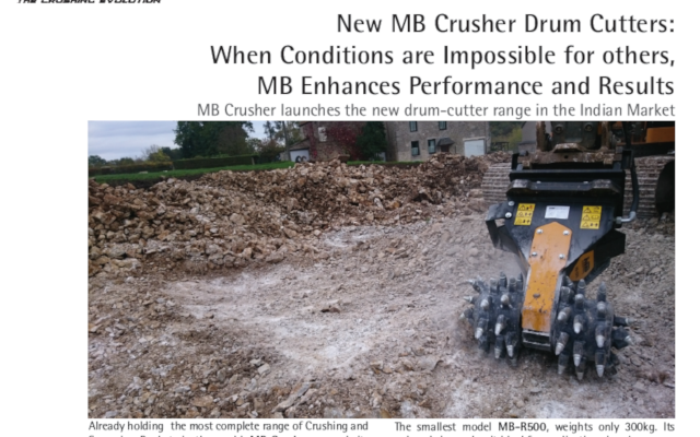 New MB Crusher Drum Cutters: When Conditions are Impossible for others, MB Enhances Performance and Results