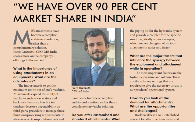 We have over 90 per cent market share in India