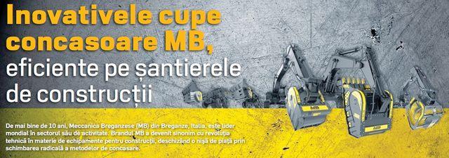 Inovativele cupe concasoare MB, eficiente pe şantierele de construcţii