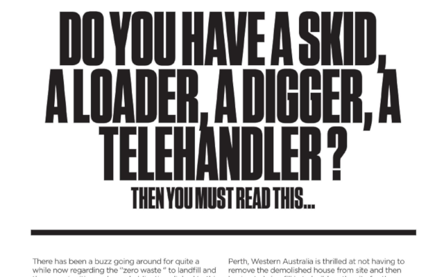 Do you have a skid, a loader, a digger, a telehandler? Then you must read this
