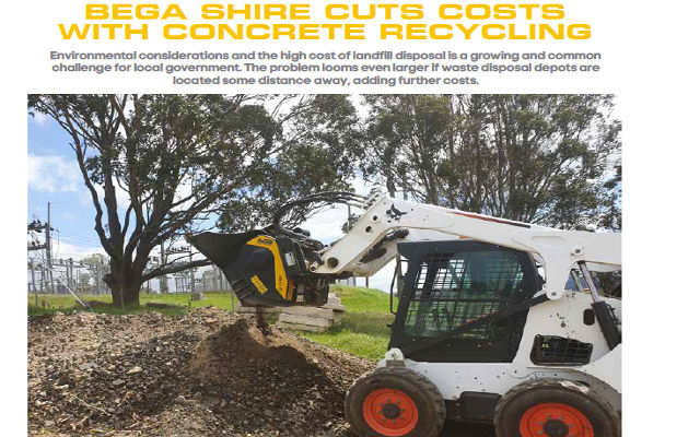 Bega shire cuts costs with concrete recycling