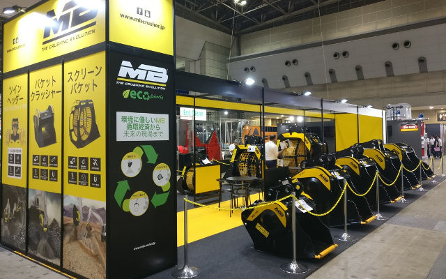 MB Crusher at N-Expo 2019 in Tokyo Big-Sight