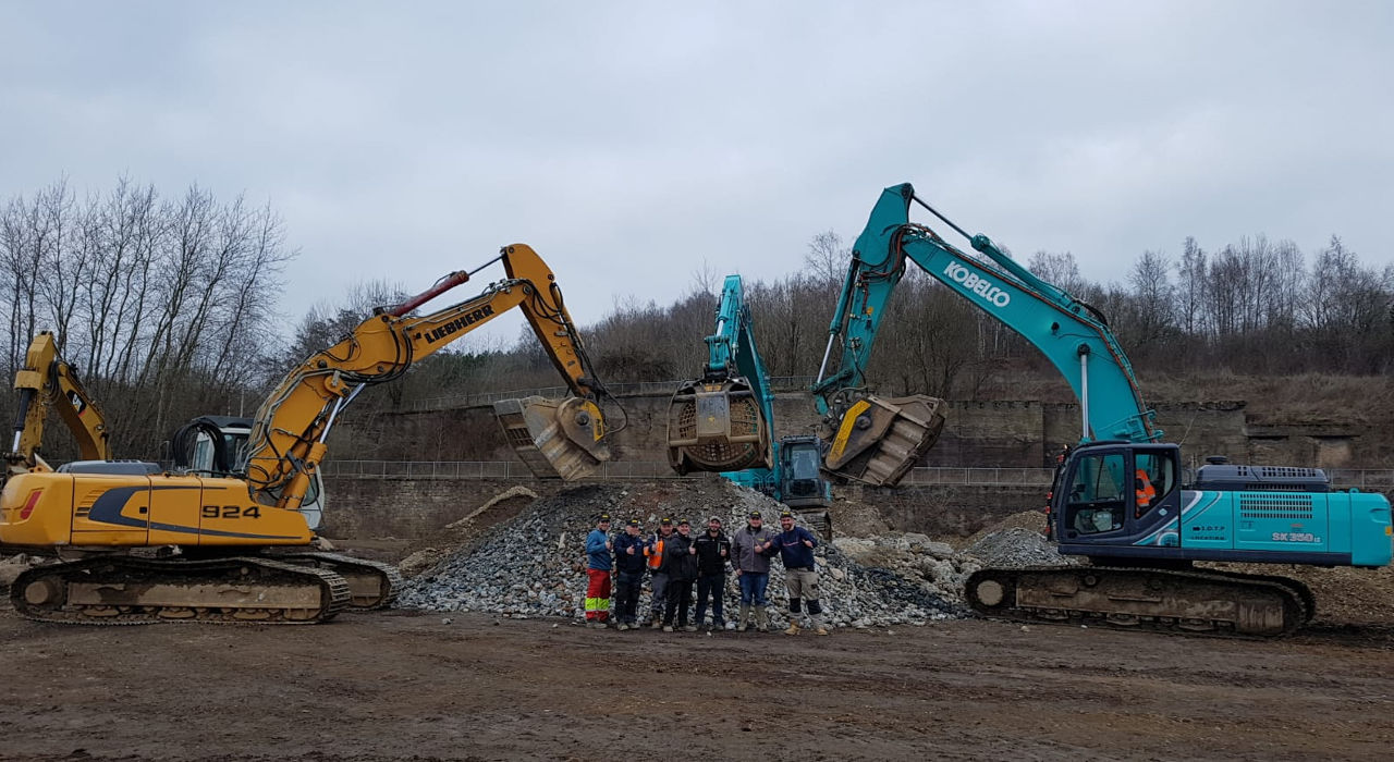Les outils mb crusher au service de la requalification d'une ancienne friche industrielle à la frontière du Luxembourg