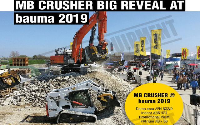 MB CRUSHER BIG REVEAL AT BAUMA 2019