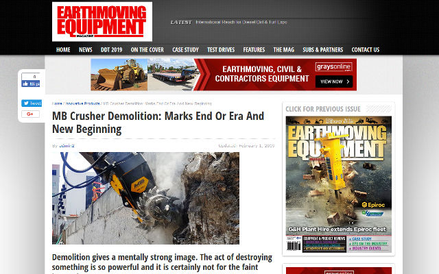 MB Crusher Demolition: Marks the End Of An Era And a New Beginning