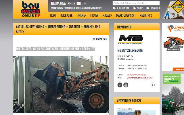 MB Crusher: Wenn Schrott gleichbedeutend mit »Gold« ist