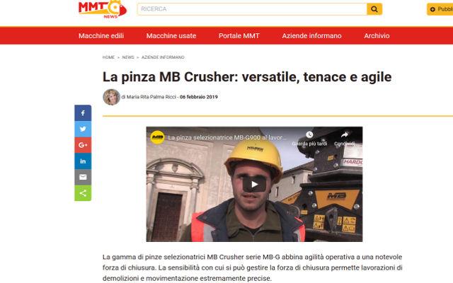 La pinza MB Crusher: versatile, tenace e agile