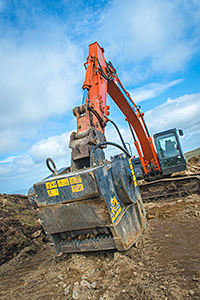 """""""Using the crushing bucket has saved us considerable time, as well as transportation and material costs."""""""