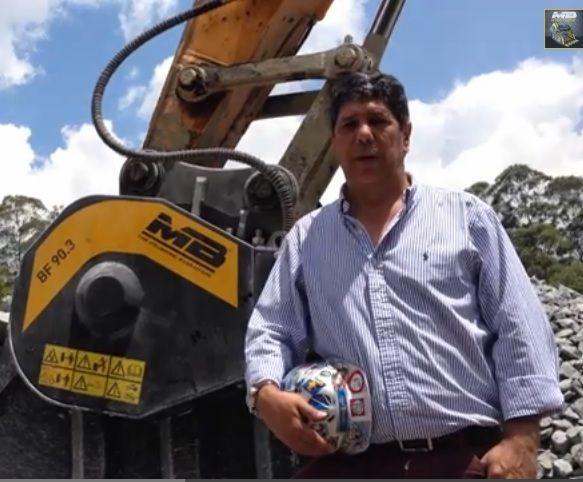 La cuchara trituradora MB trabajando en Colombia - entrevista con el Ing. Jorge Mario Ospina Parra