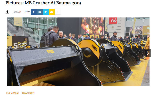 Pictures: MB Crusher at bauma 2019