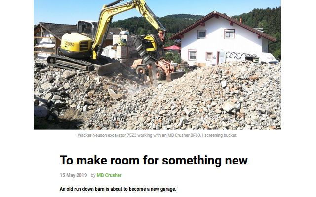 To make room for something new