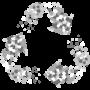 Recycling von inertem Material