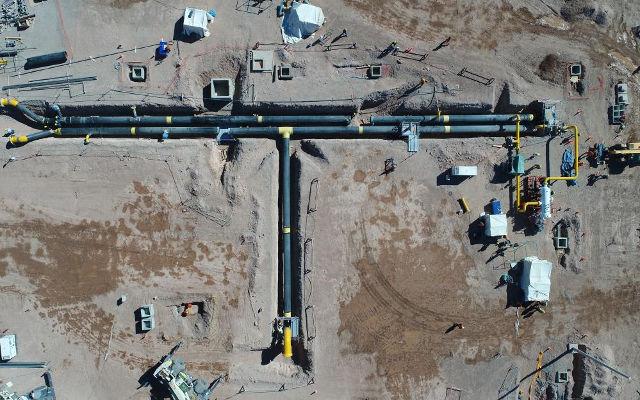 Il vaglio MB-S18 al lavoro nel gasdotto Vaca Muerta.