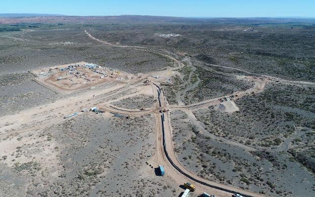 The Vaca Muerta gas pipeline in Argentine Patagonia.
