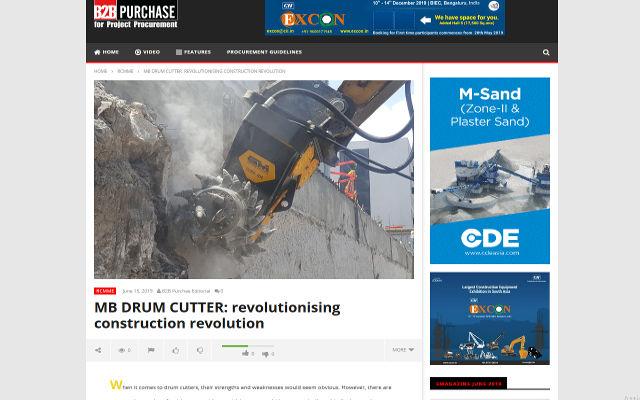 MB Drum Cutter: revolutionising construction revolution